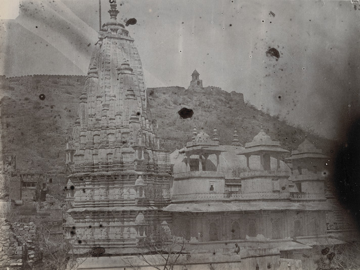 General view of a marble temple, Amber
